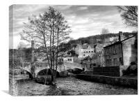Hebden Bridge ~ Black & White, Canvas Print