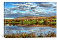 The Fishing Lake ~ Pendle Hill, Canvas Print