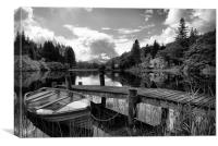 Loch Ard Black and White, Canvas Print