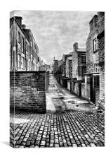 Back Ally, Saltaire, Shipley, Canvas Print