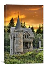 A Fairytale Castle Gatelodge, Canvas Print