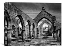 Thomas a Becket Ruins, Heptonstall, Canvas Print