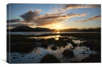 Loch Tulla Sunset, Canvas Print