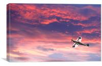 Spitfire Sunset - DigitArt, Canvas Print