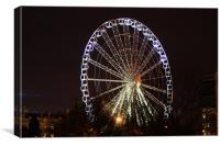 "The Yorkshire ""Eye"" Ferris Wheel, Canvas Print"