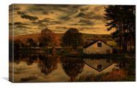 Sunset At The Fishing Lodge, Canvas Print