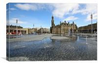City Park Fountains, Bradford, Canvas Print