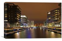 Brewery Wharf & Clarence Dock., Canvas Print