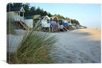 Beach Huts At Wells-On-Sea, Canvas Print