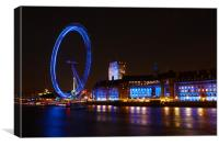 "The ""London Eye"" Ferris Wheel, Canvas Print"