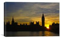 Sundown in London, Canvas Print