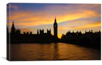 Golden Hour in Westminster, Canvas Print