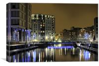 Clarence Dock, Complete re-work, Canvas Print