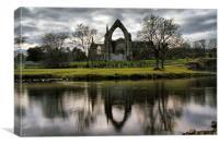 Bolton Abbey Reflection, Canvas Print