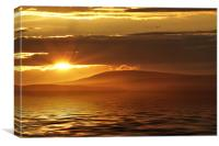 Sunset From Morecambe Bay, Canvas Print