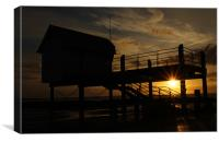 The Old Coast Guard Building In Silhouette, Canvas Print