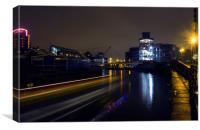 Disco Barge Boat Trails, Canvas Print