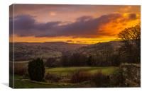 Dalescapes: Swaledale Sunrise II, Canvas Print