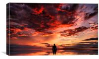 Sunset & Silhouette, Canvas Print