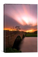 Sunrise Over The Ure, Canvas Print