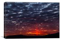 Uncommon Solar/Light Pillar Sunrise, Canvas Print