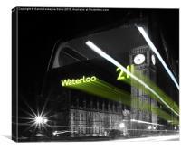 Waterloo 211 Ghost Bus, Canvas Print