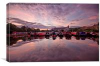 Apperley Bridge Marina, Canvas Print