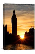 Big Ben Silhouette Sunset, Canvas Print
