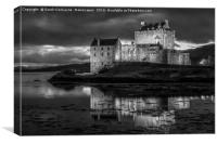 Eilean Donan Castle - Monochrome II, Canvas Print