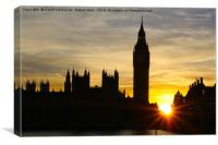 Westminster Silhouette & Sunset, Canvas Print