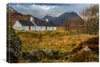 Black Rock Cottage, Glencoe, Canvas Print