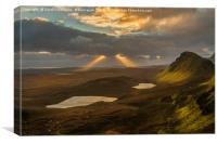 Sun Rays At The Quiraing, Canvas Print