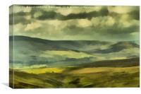 Wensleydale Digital Painting, Canvas Print