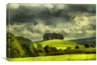 Lady Hill, Hawes, Digital Art, Canvas Print