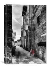 Digital Art Alley, Canvas Print