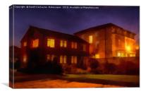 Large Building at night, Canvas Print