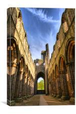 The Nave, Kirkstall Abbey, Nr Leeds, Canvas Print