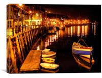 Whitby Harbour @ 4a.m., Canvas Print