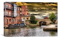 Storm Brewing Over Granary Wharf, Canvas Print