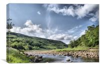 Dalescape ~ River Swale In Swaledale #2, Canvas Print