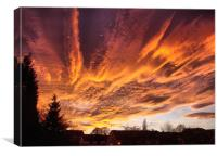 Sunset In Bradford, Canvas Print