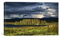 Last Light On Rannoch Moor, Canvas Print