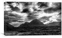 Buchaille Etive Mountain, Canvas Print