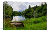 Tranquility At Loch Ard, Canvas Print