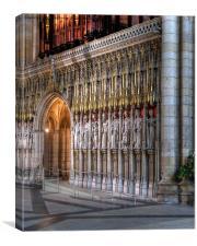 York Minster Choir Screen , Canvas Print