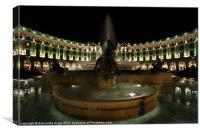 Piazza Della Repubblica by Night, Canvas Print