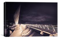 Media City Swing Bridge, Canvas Print
