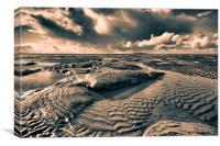 Wild beach, Canvas Print