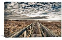 Foot bridge HDR, Canvas Print