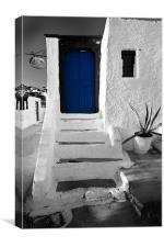 the blue door, Canvas Print